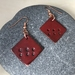 Copper & Enamel Earrings - Red  [199]