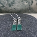 "'Paint Drip"" - Silver & Enamel Earrings - Green  [205]"