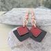 Red & Black Enamel Earrings [#261]