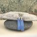 Silver & Copper & Enamel Earrings (Cornflower Blue)   [#259]