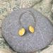 Yellow Enamel Earrings  [#293]