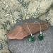 Emerald Green Enamel Earrings [#294]