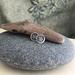 Silver Flower Imprinted Post Earrings [#316]