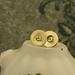 Brass Heart Imprinted Post Earrings [#319]