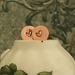 Copper Heart Imprinted Post Earrings [#320]