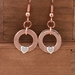 Copper with Heart Claddagh Earrings  [#327]