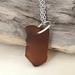 Brown Seaglass Pendant [#345]