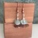 Seaglass & Crystal Stack Earrings   [#346]