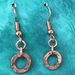 Textured Copper Ring Earrings   [#363]