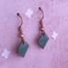 Copper & Enamel Earrings - Green [192]