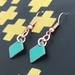 Copper & Enamel Earrings - Green [369]