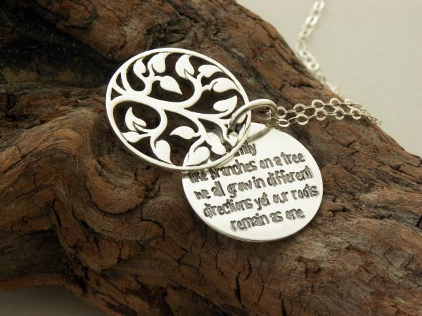 Like Branches On A Tree Quote: Family Tree Necklace ... Sterling Silver .. Like Branches