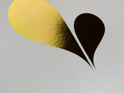 Heart Spring A4 Gold Foil Print