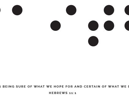 Faith Braille A4 Gold Foil Print