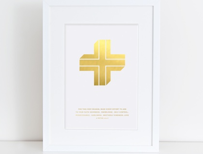 Add to A4 Gold Foil Print