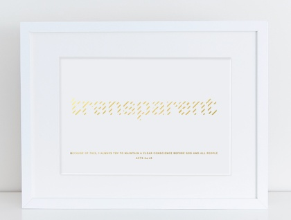 Transparent A4 Gold Foil Print