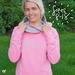 Ladies 'Flowers Fade' dusty pink hoodie