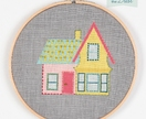 Embroidery Kit: House Hoop Wall Art