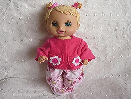 Pink Snuggly Set For 12 Quot Baby Alive Sip N Slurp Dolls Felt