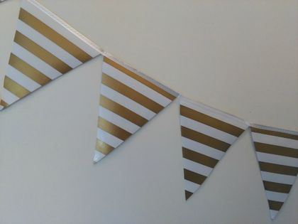 Gold & White Oilcloth Bunting