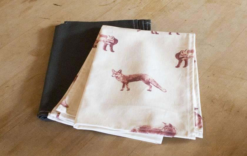 foxy tea towel set