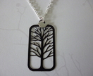 Tree and little bird necklace