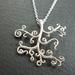Silver Swirly Tree necklace