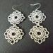"""Double """"Crochet"""" style earrings"""