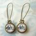 Retro bike dangle earrings