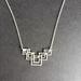 Geometric art deco pendant necklace