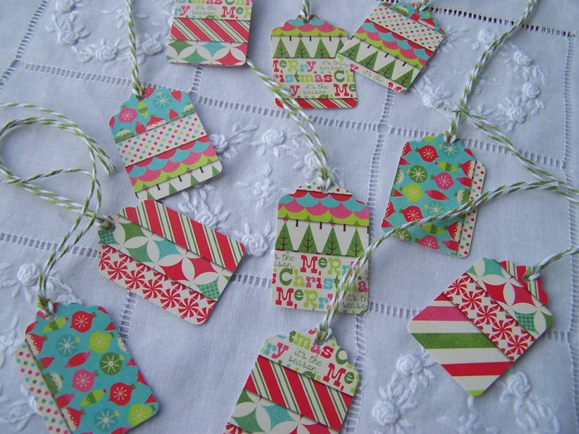 "10 Small ""Sweet Vintage Christmas Candy"" Tags"