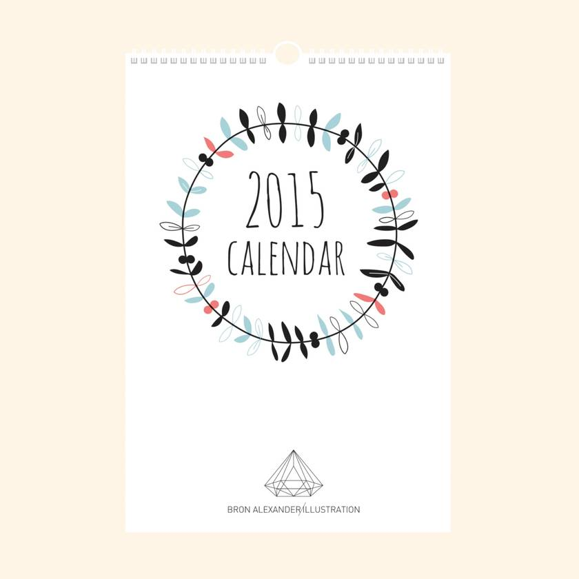 2015 Calendar - the perfect Christmas pressie to post!