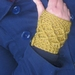 Mustard Yellow WOOL Latticed Fingerless Mitts - 100% AUSTRALIAN WOOL