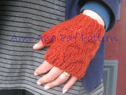 Pdf Pattern Only Chunky Knit Honeycomb Cable Fingerless Mittens With