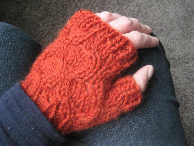 PDF PATTERN ONLY Chunky Knit Honeycomb Cable Fingerless ...