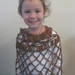 Sparkly Girl's Poncho OOAK - Wearable All Season - Soft Acrylic Yarn/Synthetic Blend - DISCOUNTED