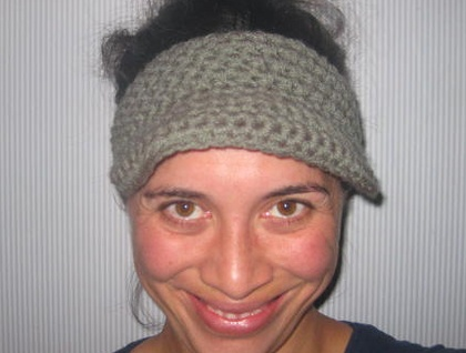 "Custom Made Unisex Koru Double Yarn ""Bookie"" Visor - Soft Acrylic Yarn"