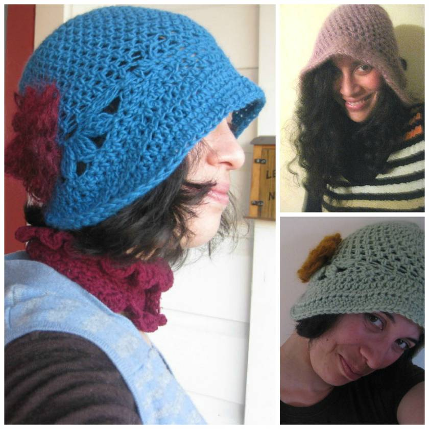Gorgeous Cloche - Custom made to order  - FREE Mohair  flower pin