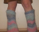 Chevron stripe Flared Funky Mohair leg warmers CUSTOM MADE TO ORDER