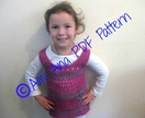 PDF PATTERN ONLY Baby Girl/Toddler Crochet Tunic Overdress or Tank Top