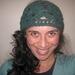 Jade Green Soft'n'Chunky Merino Wool Blend Flowery Wide Crochet Headwrap/Neckwarmer - Merino, Angora and Nylon Wool Blend