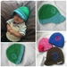 Snug Two-Tone Koru Newborn Baby Cap in Double Yarn Soft 100% Acrylic Yarn - MADE TO ORDER