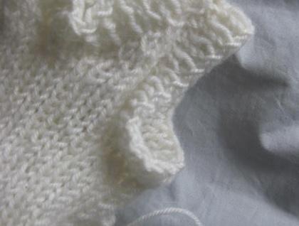 PDF PATTERN ONLY Knitted Unisex Baby Ribbed V-Neck Singlet Pattern