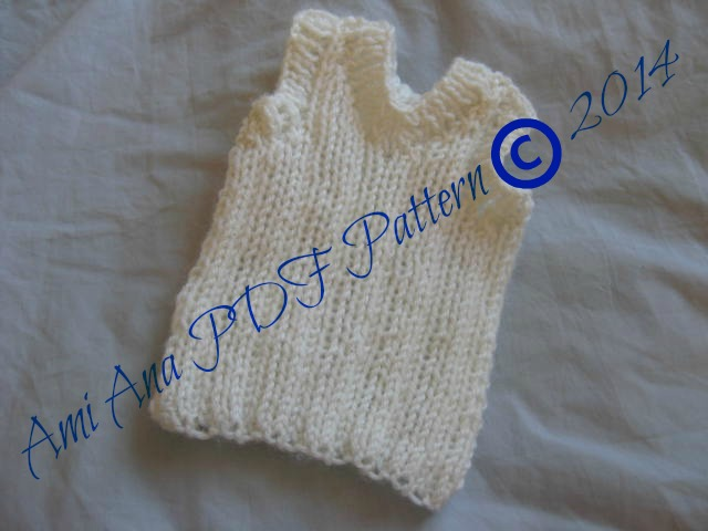 Knitting Pattern Baby Singlet : PDF PATTERN ONLY Knitted Unisex Baby Ribbed V-Neck Singlet Pattern Felt