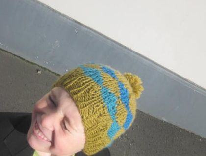 PDF PATTERN ONLY Ami Ana Almost Argyle-style Knitted Child Hat Pattern, Unisex