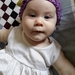 Sage Green or Fuchsia Newborn Baby Flowery Headwrap in Bamboo Fibre Yarn Summer-wear