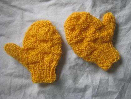 PDF PATTERN ONLY New Ami Ana Knit Chunky Basket Stitch Unisex Child's Mittens Pattern