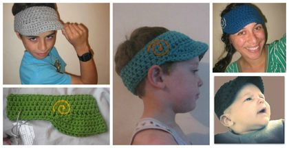 "Custom Made Unisex Koru Double Yarn ""Bookie"" Visor - Soft Acrylic Yarn"
