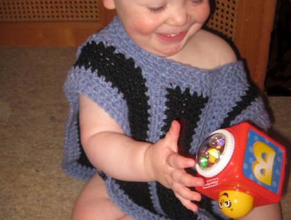 PDF PATTERN ONLY - Ami Ana Baby/Toddler Boy Crochet Hooded Poncho