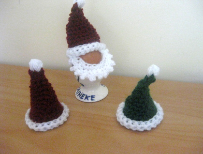 Santa and Elf Egg Cosy Hats